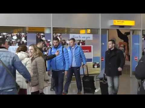 FC Zenit St. Petersburg arriving at Eindhoven Airport - 18-02-2015