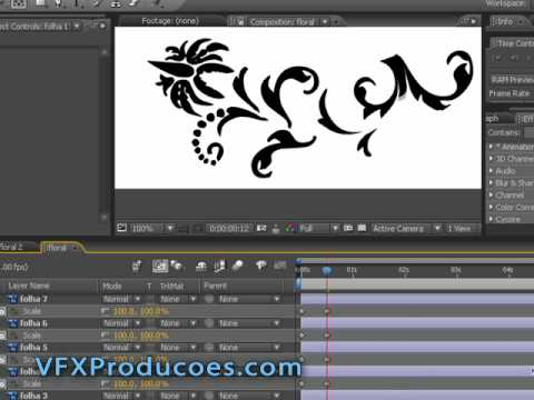 Tutorial After Effects Portugues - Florais Evolutivos Animados