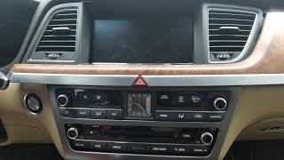 How to Remove Radio / Navigation / Display from Hyundai Genesis 2015 for Repair.