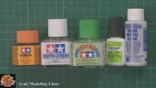 Scale model Glues