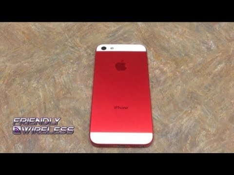 Red iPhone 5 Conversion with Skull Home Button