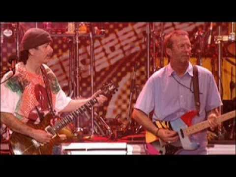 Eric Clapton and Carlos Santana Very Rare 24 min part 2