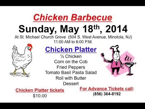 Our Lady of the Blessed Sacrament Parish CHICKEN BBQ - 05/20/2014