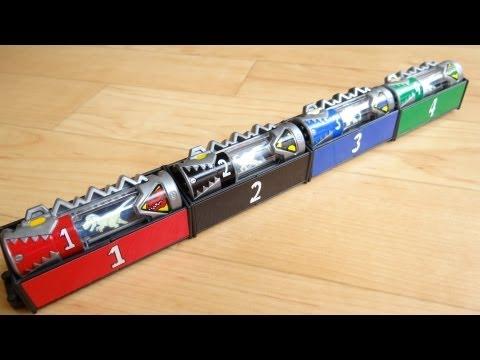 ガシャポン スピリットベース獣電池ボックス リアルチェンジキョウリュウジャー3 レビュー!連結可能 ミニティラ リアルアンパンマン 動画