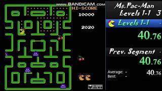 Ms. Pac-Man (NES) Level 1-1 Speedrun in 0:54
