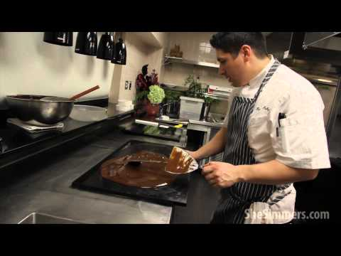 Executive Pastry Chef Patrick Fahy, The Sofitel Chicago, shows you how to temper chocolate and make