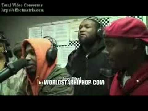 Joey Jihad and Quilly Millz dissing Murda mook and T Rex on a radio station