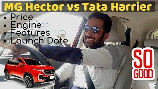 MG Hector vs TATA Harrier   Price in India, Launch Date, Features in Hindi   My Opinion 😃😃