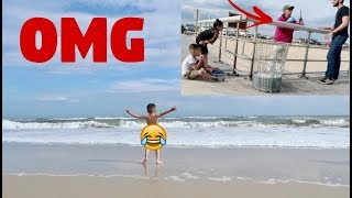 SECURITY CAME FOR DOING THIS AT THE BEACH!! **epic**
