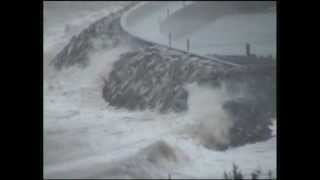 Storm in Greystones Harbour, April 25th 2012