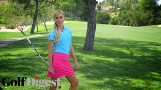 Blair O'Neal Shows You How to Curve It Around a Tree-Sexiest Shots in Golf-Golf Digest