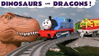 Thomas & Friends Dinosaurs and Dragons fun Toy Stories with Disney Cars McQueen & Surprise Eggs TT4U
