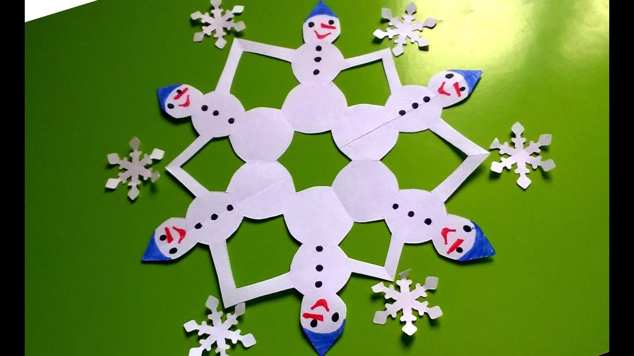 Снежинки своими руками с детьми 91
