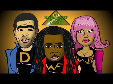 Lil Wayne SuperHero (Cartoon Spoof) Young Money Justice League feat. Drake, Nicki Minaj, Tyga