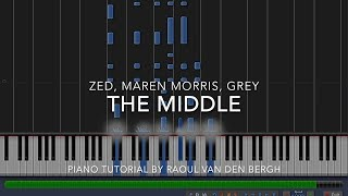 Download Lagu Zedd, Maren Morris, Grey - The Middle (Piano Tutorial + Sheets) Gratis STAFABAND