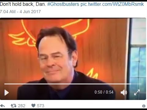 Dan Aykroyd EATS Paul Feig And SMILES ABOUT IT!