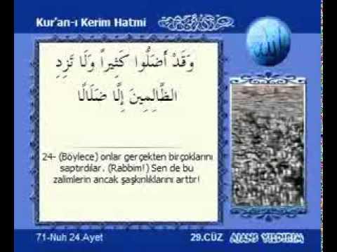 Kur'an-ı Kerim 29 cüz Kabe İmamları hatim seti