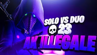 L'AK 47 E' ILLEGALE! 23 KILL SOLO VS DUO  - FORTNITE ITA