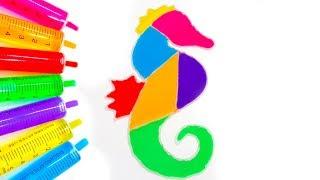 Chị Google Dạy Bé Màu Sắc Tiếng Anh Bằng Tô Màu Đoán Hình Trò Chơi Trẻ Em #43