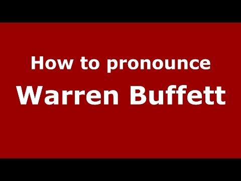 How to pronounce Warren Buffett (American English/US) - PronounceNames.com