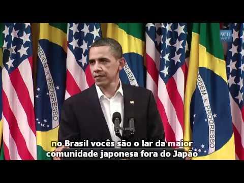Discurso de Obama no Rio Legendado Uma Aula de História do Brasil