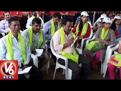 Ghmc Commissioner Janardhan Reddy Participate In Haritha Haram At Mansoorabad | Hyderabad | V6