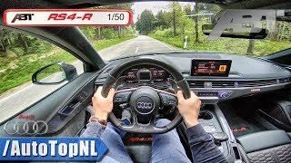 Audi RS4 R ABT 2.9 V6 BiTurbo LOUD! POV Test Drive by AutoTopNL