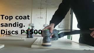 Wagner 3500. Festool RO 90. Painting furniture.