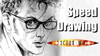 SPEED DRAWING #9 - Doctor Who : David Tennant