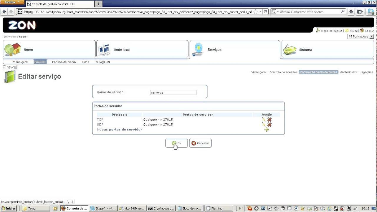 Fazer servidor cs zon tvcabo youtube