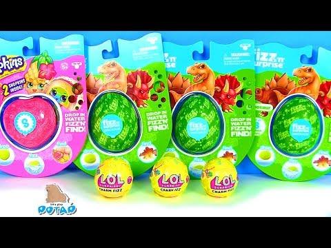 Яйца с сюрпризом! Мультик про динозавров Fizz balls Видео для детей! Сюрпризы Игрушки