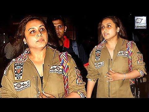 Rani Mukerji Looks MISERABLE After Pregnancy   LehrenTV