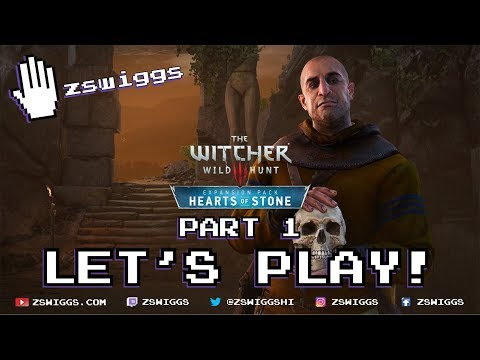 The Witcher 3: Hearts of Stone Let's Play! Part 1 Full Game with zswiggs