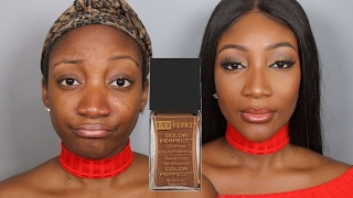 BLACK RADIANCE OIL FREE FOUNDATION  | First Impressions, Demo & Review !!!