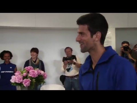 Djokovic Celebrates 29th Birthday At Roland Garros 2016