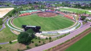 【ドローン】 福島ホープスvs新潟アルビレックスBCの始球式