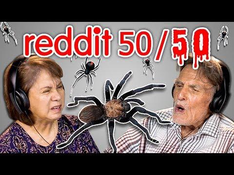 Elders React To Reddit 50 50 Challenge Spider Nightmare And