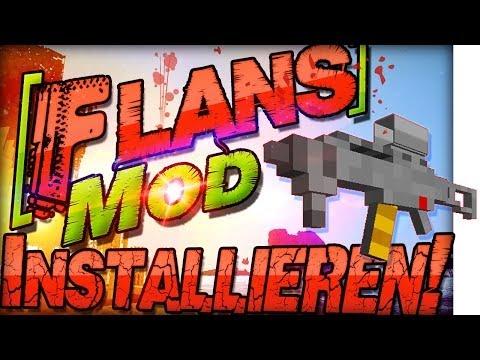 Minecraft 1.7.10 Flans Mod INSTALLIEREN   Fahrzeuge & Waffen   Deutsch Mac Windows Forge Mods CoD BF