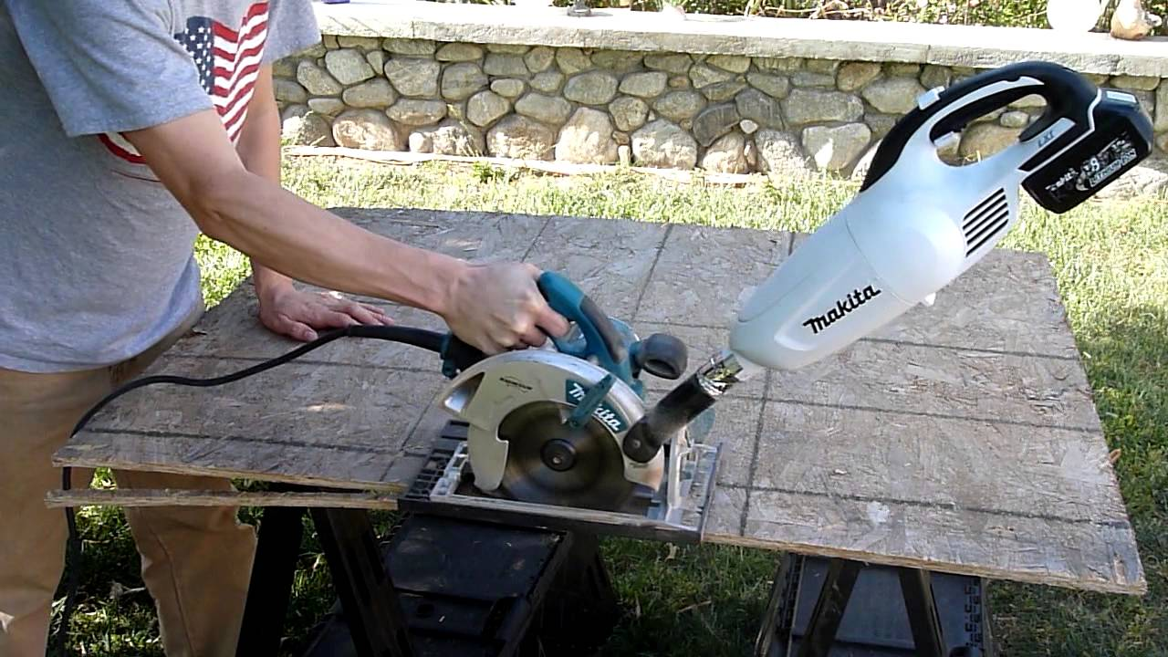 Makita Circular Saw Cordless Dust Extraction Mod Youtube