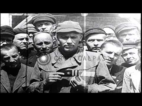 Nazi concentration camp in Mauthausen, Austria. HD Stock Footage