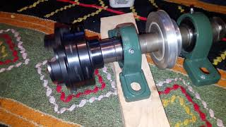 Equilibrium of homemade wood lathe shaft