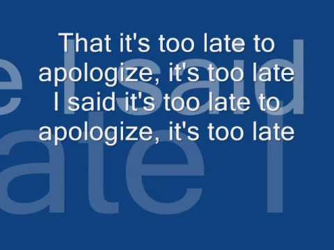 Justin Timberlake-too late