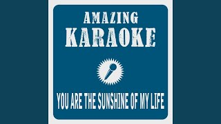 You Are The Sunshine Of My Life Karaoke Version Originally Performed By Stevie Wonder