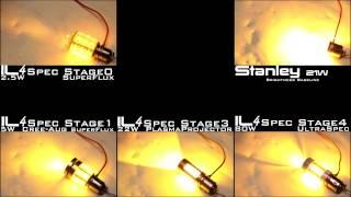 IL4 Spec Codex: 1157 Amber Series Brightness Comparison