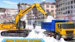 Trò chơi trẻ em xe máy xúc, xe máy cần cẩu, xe máy múc,xe ô tô tải, driving heavy excavator