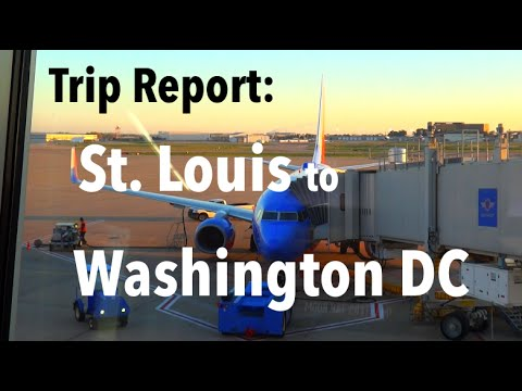 TRIP REPORT - Southwest Airlines, St. Louis to Washington DC (DCA)