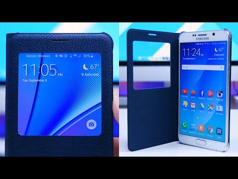 Samsung Galaxy Note 5 S-View Flip Cover Review