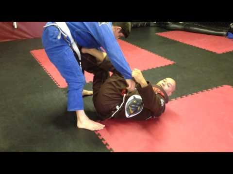 Jiu Jitsu Technique - De La Riva arm bar starting from closed guard. Image 1