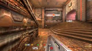 Halpdesk plays Quake Live with guantlet + teleport