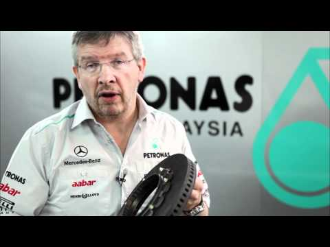 Nico Rosberg and Ross Brawn (Mercedes GP) about brakes in Formula 1